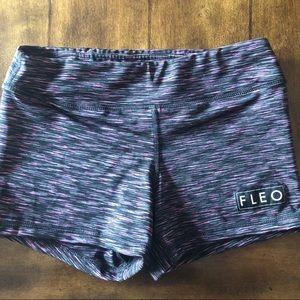 Pants - Fleo 3.25 Black Raspberry Shorts